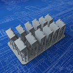 "1/200 Royal Navy 4"" Ready Use Lockers x12 (Large)"