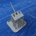 1/240 Royal Navy 12-pdr 12cwt HA/LA MKIX Mount