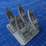 1/350 Royal Navy 16ft Fast Motor Boats (Skimming Dish) x4