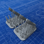 1/350 Royal Navy 16ft Sailing Dinghys (Drifter Type) x2