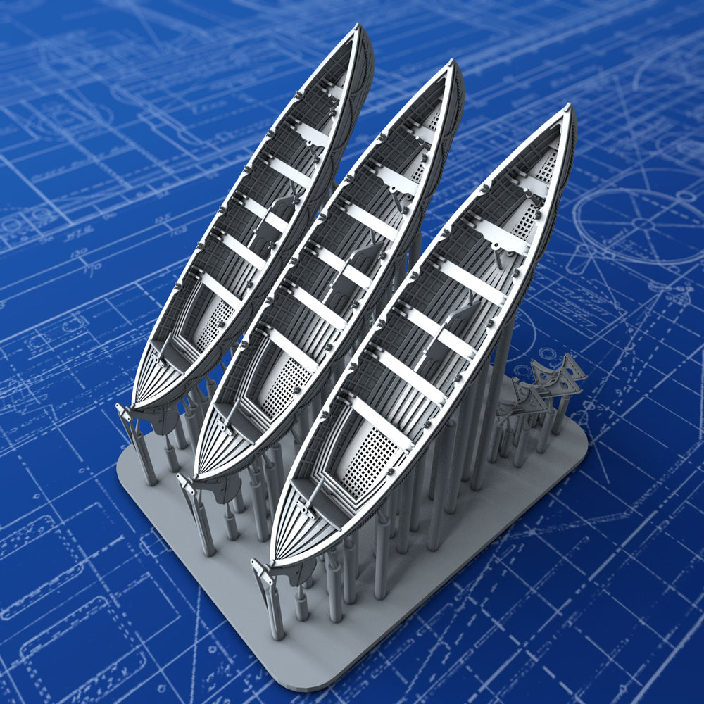 1/400 Royal Navy 27ft Whalers x3