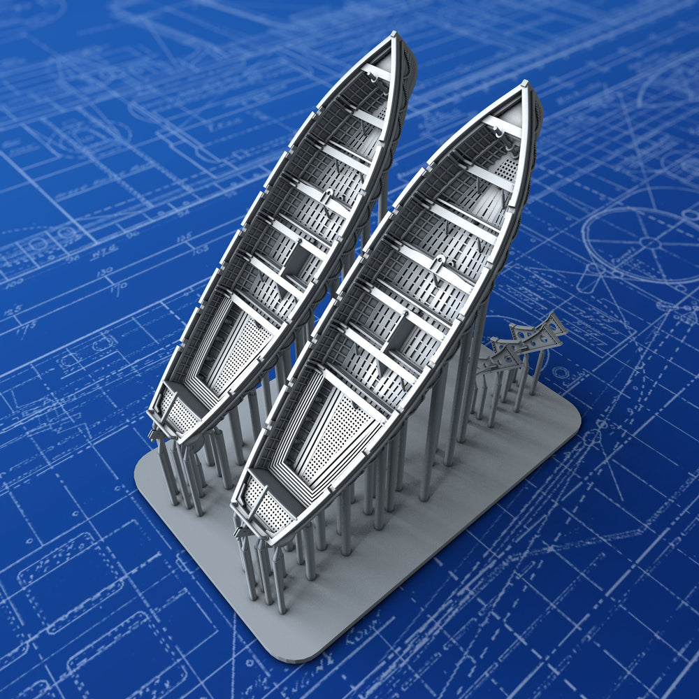 1/350 Royal Navy 32ft Life Cutters x2