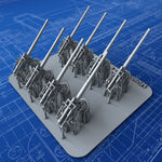 "1/350 Royal Navy 4""/50 (10.2cm) BL MKVII Guns x8"