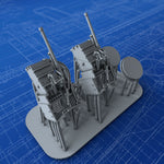 "1/350 Royal Navy 6-pdr/7cwt 2.244""/43 (57mm) QF Mark IIA x2"