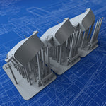 "1/350 US Navy Triple 8""/55 (20.3 cm) Mounts x3 (USS Chicago)"
