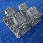 "1/350 French Navy Triple 152mm/55 (6"") Model 1936 Guns x4 (Alsace Class Variant)"
