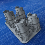 1/350 Royal Navy E Class Destroyer Director Control Towers x4