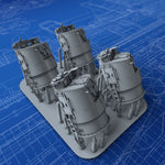 1/350 Royal Navy J Class Destroyer Director Control Towers x4