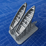 1/400 Royal Navy 32ft Life Cutters x2