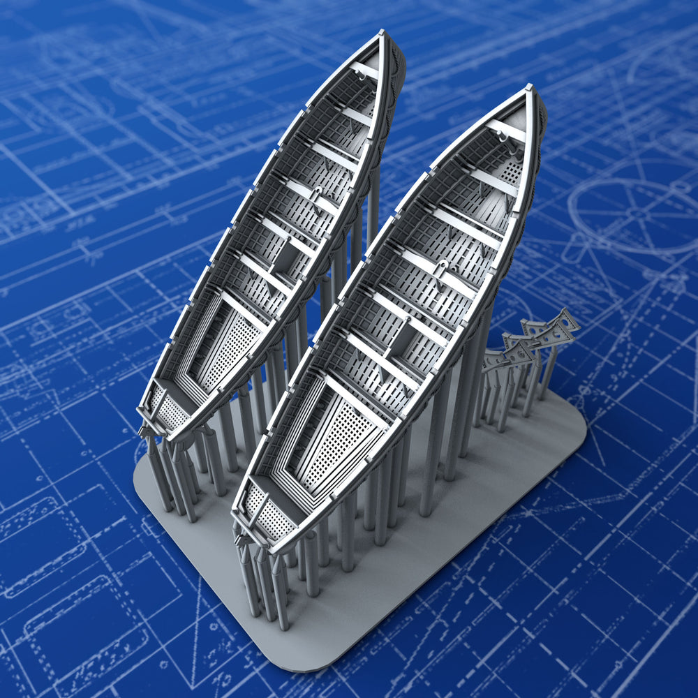 1/450 Royal Navy 32ft Life Cutters x2