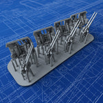 "1/600 Royal Navy 4""/45 (10.2cm) QF MKXVI (MKXIX Twin Mounts) x4"