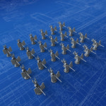 1/700 Royal Navy 20mm Oerlikon MKI Guns (0º Elevation) x24