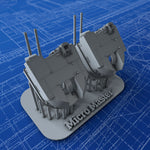 "1/700 Royal Navy 4.5"" (11.4cm) RP10 Mark IV Guns x2"