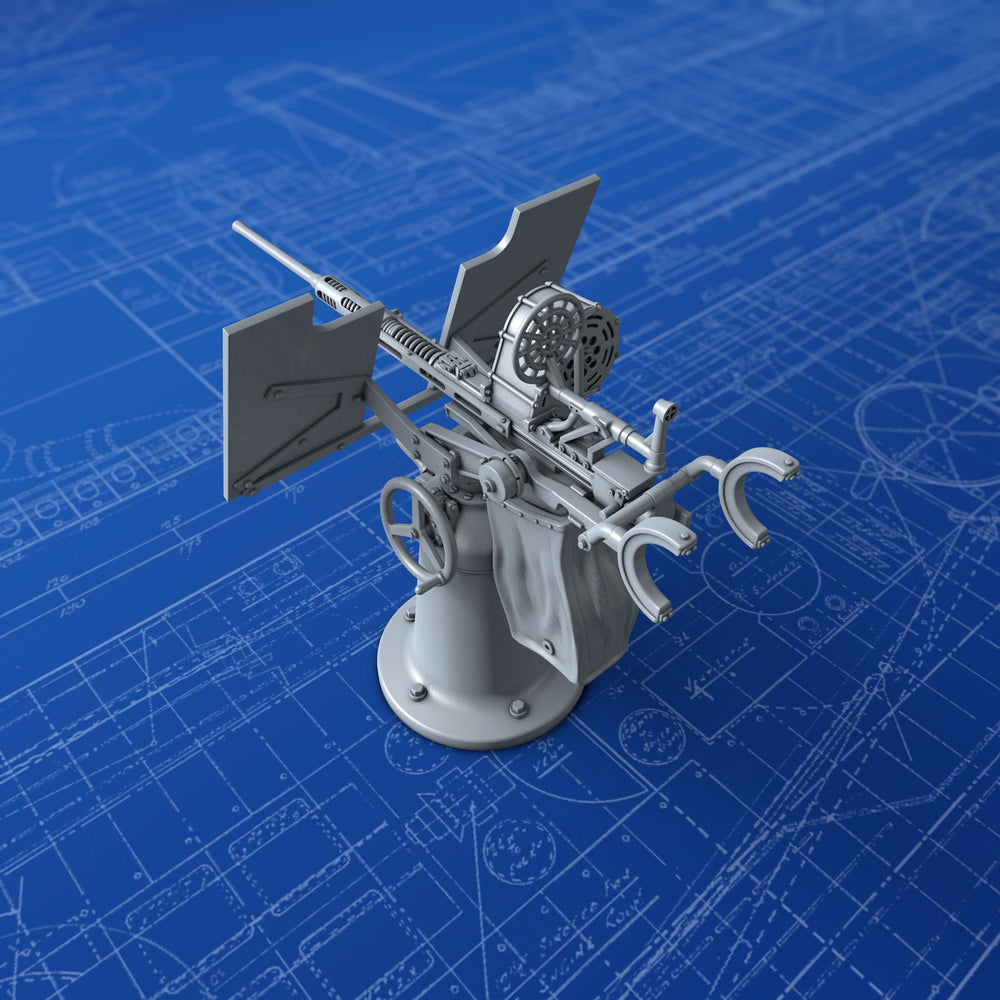 1/72 US Navy 20mm Oerlikon MKI Gun (0º Elevation)