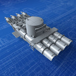 "1/96 Royal Navy 21"" QR MKVIII Quad Torpedo Tubes (Aft)"