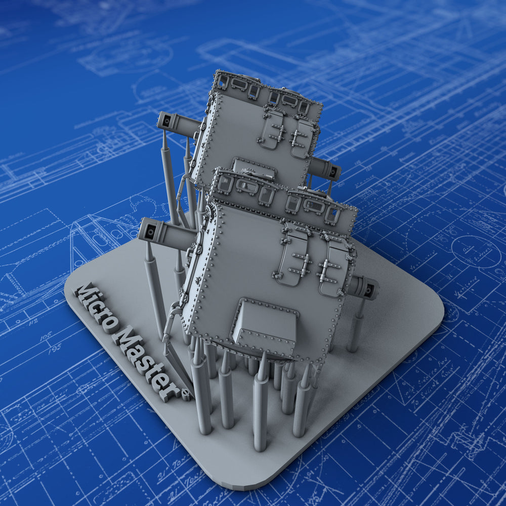 "1/350 Royal Navy 8"" Director Control Towers (Refit) x2 (County & York Class)"