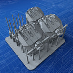 "1/700 French Navy Triple 152mm/55 (6"") Model 1936 Guns x3 (Richelieu Class)"
