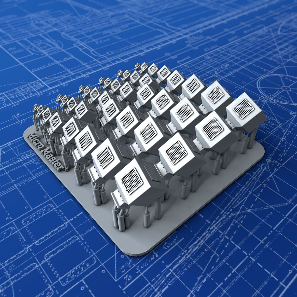 1/350 Royal Navy Large Square Type Mushroom Vents x40