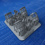 1/350 Royal Navy Type 271 Radar RDF Lantern x4