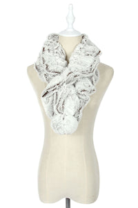 Wide Ruffle Bobble Pull Through - Fashion Scarf World