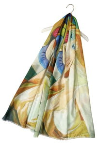 Impressionist Style Portrait Print Scarf - Fashion Scarf World