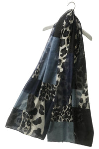 Leopard Print Patchwork Print Scarf - Fashion Scarf World
