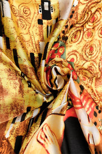 Klimt The Kiss Painting Print Silk Scarf - Fashion Scarf World
