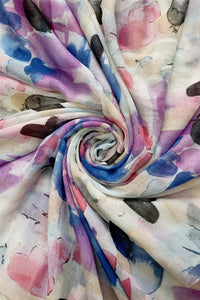 Multi Brush Stroke Print Scarf