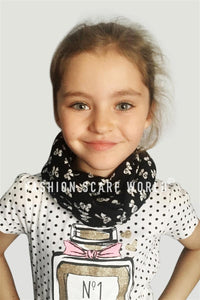 Kids Bow Print Snood - Fashion Scarf World