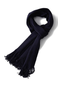 Plain Knitted Unisex Tassel Scarf - Fashion Scarf World