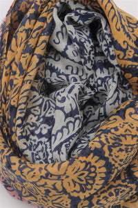 Damask Floral Print Scarf - Fashion Scarf World