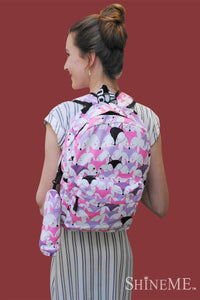 Fox Face Backpack With Pencil Case - Fashion Scarf World