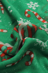 Merry Christmas Candy Cane Print Scarf - Fashion Scarf World