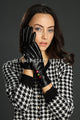 Coloured Button Leather Gloves - Fashion Scarf World