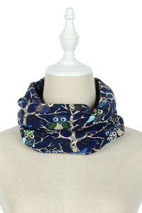 Kid's Patterned Owl On Branches Snood - Fashion Scarf World
