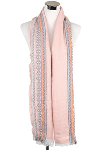Tribal Diamond Frayed Scarf - Fashion Scarf World