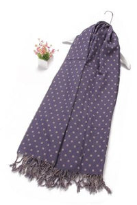 Reversible Square Block Print Tassel Cotton Scarf - Fashion Scarf World
