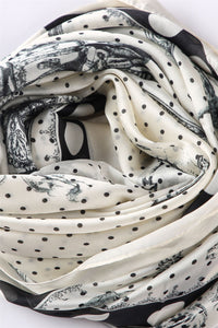 Cavalry & Armour Polka Dot Silk Scarf - Fashion Scarf World