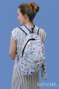 Rainbow & Unicorn Backpack With Pencil Case - Fashion Scarf World