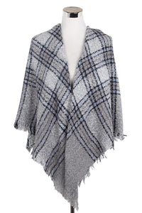 Lomond Tartan Print Boucle Scarf - Fashion Scarf World