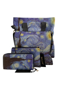 Van Gogh Starry Night Print - Shopper - Fashion Scarf World