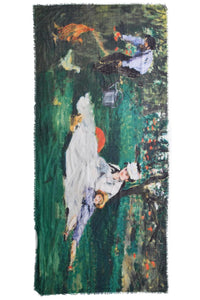 Monet On the Grass Painting Print Scarf - Fashion Scarf World