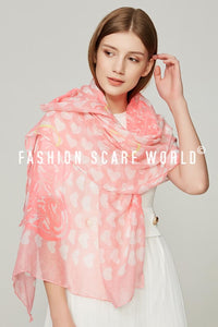 Heart To Heart Print Scarf - Fashion Scarf World