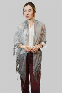 Trapezoid Butterfly Lace Tassel Scarf - Fashion Scarf World