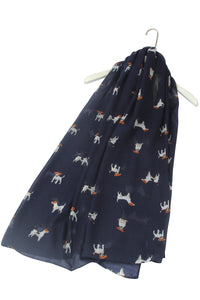 Jack Russell Dog Printed Scarf