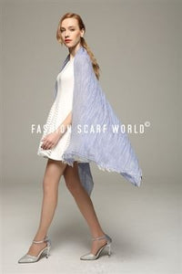 Casual Plain Frayed Linen Scarf - Fashion Scarf World