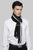 Three Stripes Knitted Tassel Unisex Scarf
