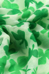Shamrock Print Scarf - Fashion Scarf World