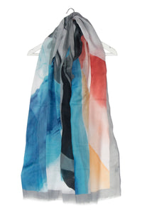 Abstract Lily Flower Print Scarf - Fashion Scarf World