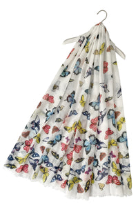 Colourful Garden Butterfly Print Scarf - Fashion Scarf World